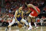 """""""Warriors"""" tikisi S.Curry išlipimo iš žaidimo duobės"""