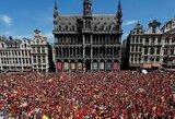 Pamatykite: trečią vietą pasaulio čempionate užėmę belgai sulaukė įspūdingo pasitikimo Briuselyje
