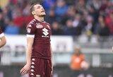 """Milžiniškas """"Inter"""" pasiūlymas už A.Belotti """"Torino"""" klubo nesužavėjo"""