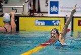 Pirmoje pasaulio plaukimo taurės etapo Olandijoje vakarinėje sesijoje pagerinti dar trys planetos rekordai