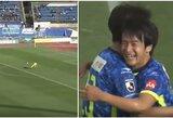 Neįtikėtina: Japonijoje – du įvarčiai iš savo aikštės pusės per 90 sekundžių