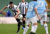 """""""Udinese"""" klubas savo aikštėje įveikė """"Lazio"""" ekipą"""