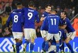 """9 įvarčius varžovams atseikėjęs """"Leicester City"""" vietiniame čempionate iškovojo įspūdingą pergalę"""