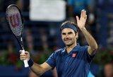 100-ojo karjeros titulo siekiantis R.Federeris Dubajuje pateko į ketvirtfinalį