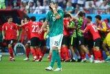 Nukarūnuoti čempionai – Pietų Korėja užkirto vokiečiams kelią į atkrintamąsias