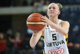 Lietuvos moterų rinktinė įveikė Vokietijos krepšininkes
