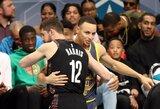 """NBA tritaškių konkursą laimėjo S.Curry įveikęs """"Nets"""" gynėjas"""