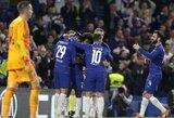 """Europos lyga: A.Moratos įvartis padovanojo pergalę """"Chelsea"""", """"Eintracht"""" sutriuškino devyniese žaisti likusius """"Lazio"""" futbolininkus"""