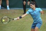 Du kartus per tašką nuo pralaimėjimo buvęs R.Federeris išsigelbėjo Vokietijoje