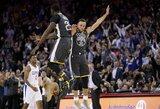 """S.Curry suvarpė """"Clippers"""" krepšį tritaškiais"""