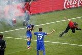 Pamatykite: kaip Kroatijos fanai pakenkė savo rinktinei