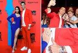 Pamatykite: C.Ronaldo su mergina šėlo MTV apdovanojimuose