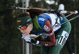 Estė sužibėjo pasaulio biatlono taurės etape, lietuvės nuvylė