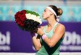Abu Dabyje triumfavusi A.Sabalenka kils į rekordines aukštumas WTA vienetų reitinge