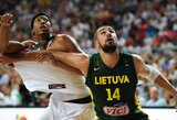 Du kėlinius amerikiečiams į atlapus kibę Lietuvos krepšininkai kausis dėl bronzos
