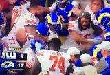 Masinis susistumdymas NFL rungtynėse: žaidėjas atkeršijo varžovui, kuris buvo neištikimas jo nėščiai seseriai