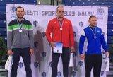 """Imtynių turnyre Estijoje šalies """"klasikai"""" iškovojo du sidabro medalius"""