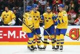 """26 įvarčius per trejas rungtynes pelnę švedai """"nušlavė"""" ir austrus"""