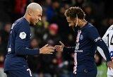 Pergalingai žaidžiantys PSG Prancūzijoje iškovojo dar vieną triuškinančią pergalę