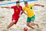 Europos B diviziono paplūdimio futbolo čempionate lietuviai neatsilaikė prieš vengrus