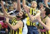 """""""Fenerbahce Ulker"""" su L.Kleiza netikėtai pralaimėjo """"Partizan"""" komandai"""