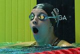 17-metė JAV plaukimo vunderkindė pagerino pasaulio rekordą