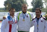 Pasaulio rekordininkas kanojininkas H.Žustautas Vengrijoje iškovojo aukso medalį! (V.Korobovui – bronza)
