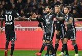 """Prancūzijos """"Ligue 1"""": dėl antros vietos kovojantys """"Lyon"""" ir """"Monaco"""" iškovojo pergales."""