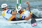 Kanojų slalomo varžybose Londone – dvigubas šeimininkų triumfas