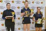 Lietuvos stalo teniso Top-12 pirmenybių nugalėtojai – G.Šišanovaitė ir A.Udra