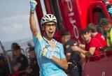 """F.Aru laimėjo """"Vuelta a Espana"""" lenktynių etapą, C.Froome'as priartėjo prie A.Contadoro"""