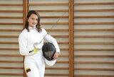 LSU magistrantė V.Ažukaitė siekia tapti pirmąja Lietuvos fechtuotoja olimpiete