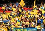 Pamatykite: Ukrainos rinktinės sirgaliai užplūdo LFF stadioną