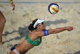 Lietuvės Europos jaunių paplūdimio tinklinio čempionate pasidalino 9-12 vietas
