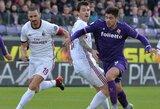 """Italijos """"Serie A"""": """"Milan"""" ir """"Fiorentina"""" klubai išsiskyrė taikiai"""