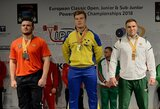J.Stasiulis Europos jaunimo jėgos trikovės čempionate iškovojo du medalius