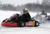 Su kartingais – į sniegu padengtą trasą