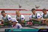 Europos čempionų titulą ginantys Lietuvos keturvietininkai pateko į A finalą