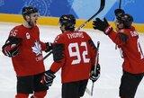 Kanadiečių pergalę olimpiados ketvirtfinalyje prieš suomius nulėmė vienintelis įvartis