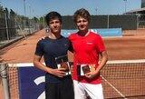 Vienas perspektyviausių Lietuvos tenisininkų tapo tarptautinio ITF jaunių turnyro nugalėtoju