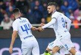 """""""Inter"""" iškovojo lengvą pergalę Italijoje ir toliau bando vytis """"Juventus"""""""