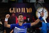 Iki rekordo – viena pergalė: N.Djokovičius pusfinalyje neužtruko nė pusantros valandos