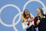 Kova dėl pirmos vietos olimpiados medalių įskaitoje aštrėja