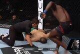 Fantastiškas debiutas UFC – Ph.Hawesas nokautavo varžovą per 18 sekundžių