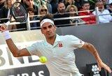Antrą mačą per dieną žaidęs R.Federeris išplėšė dramatišką pergalę