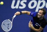 """""""US Open"""" turnyre paaiškėjo visos ketvirtfinalio poros: laukia Rusijos tenisininkų mūšis"""
