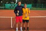 Tarptautiniame teniso turnyre Šiauliuose – J.Trainausko ir K.Bubelytės triumfas