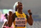 Plaukų spalvą vėl pakeitusi S-A.Fraser-Pryce laimėjo prestižinį pasaulio čempionato finalą ir sukūrė istoriją