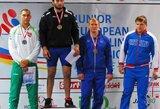 M.Knystautas ir K.Šleiva iškovojo Europos jaunimo imtynių čempionato sidabro medalius