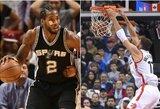 """NBA reitingas: lydere tapusi """"Spurs"""" ir ryškus J.Valančiūno metimų pagausėjimas"""